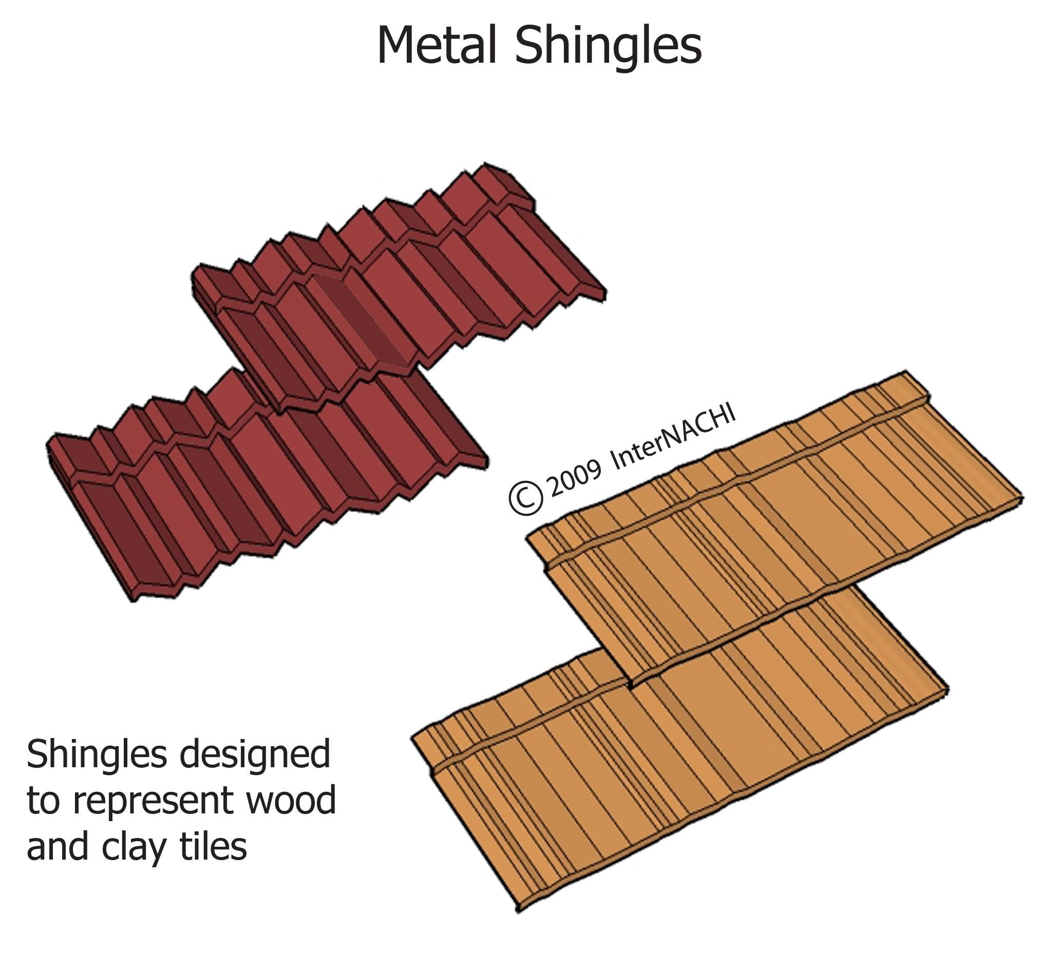 Metal shingles.