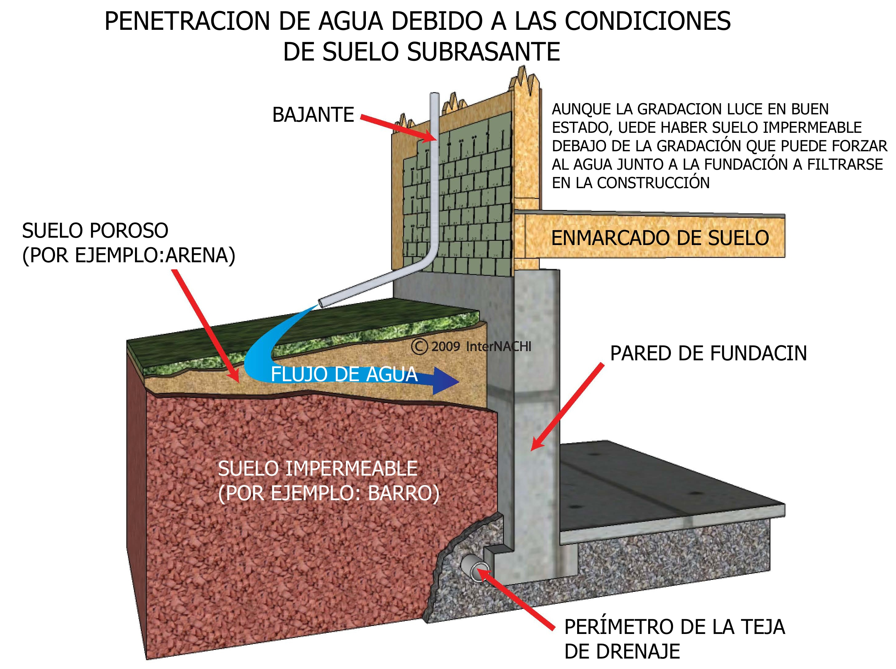 Water penetration and soil conditions.
