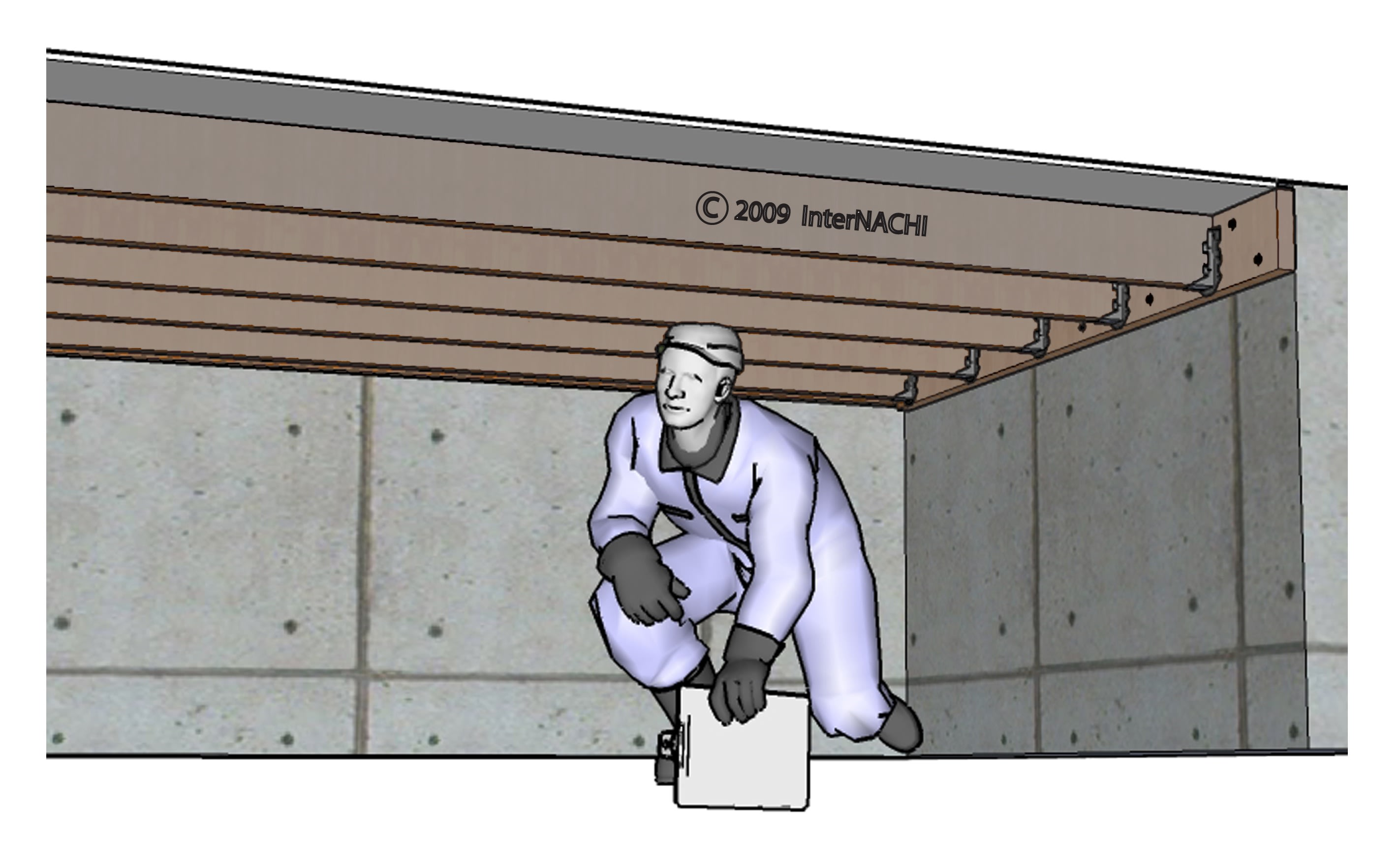Crawlspace inspection.