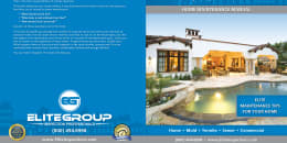 Custom Home Maintenance Book for Elite Group Inspection Professionals