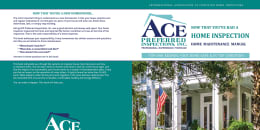 Custom Home Maintenance Book for Ace Preferred Inspections
