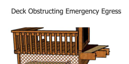 Deck Obstructing Emergency Egress