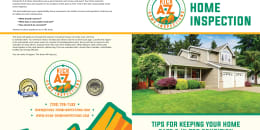 Custom Home Maintenance Book for A-Z Home Inspections