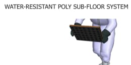 Water-Resistant Poly Sub-Floor System