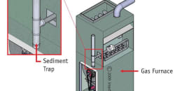 Sediment Trap at Gas Furnace