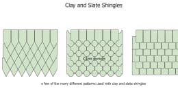 Clay and Slate Shingle