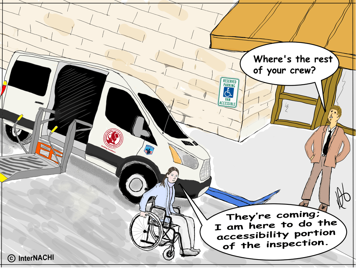 Accessibility Inspection Cartoon