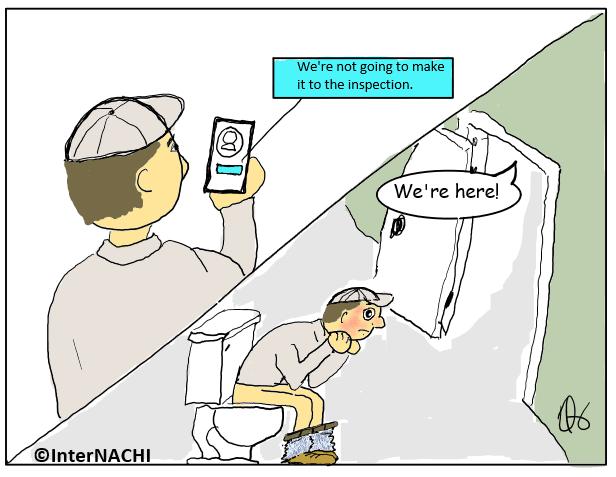 Bathroom Break Cartoon
