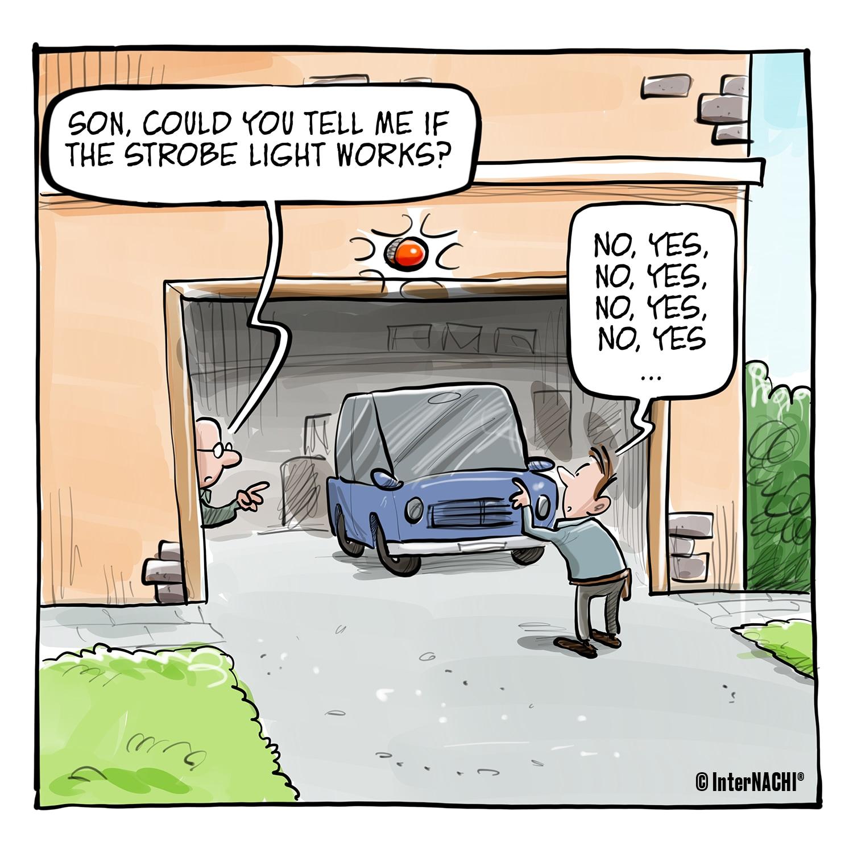 Emergency Light Inspection Cartoon