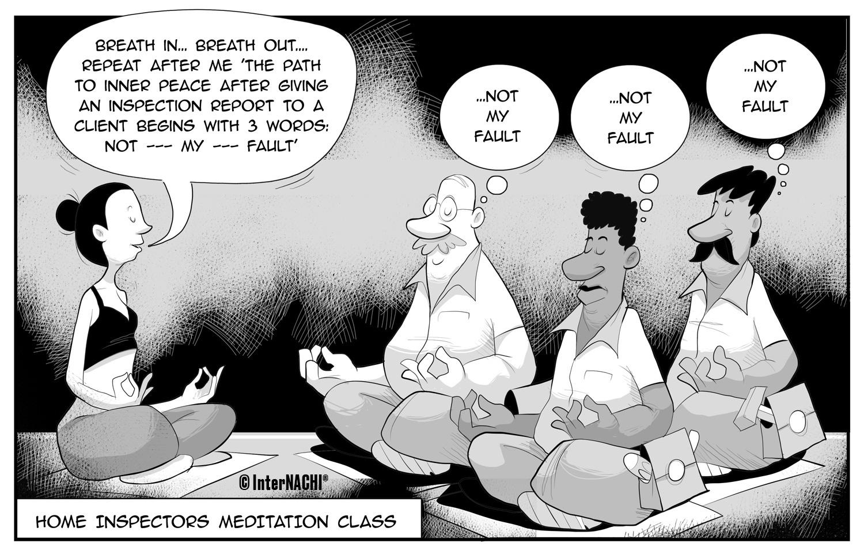 Home Inspector Retreat Cartoon