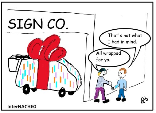 Inspection Vehicle Wrap Cartoon