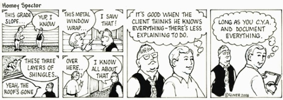 The Know-It-All Client Cartoon