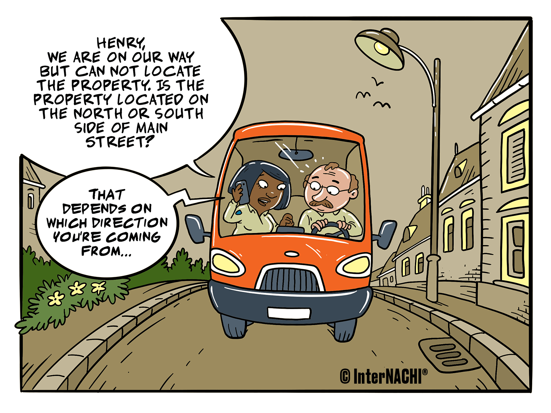 Navigation Assistance Cartoon