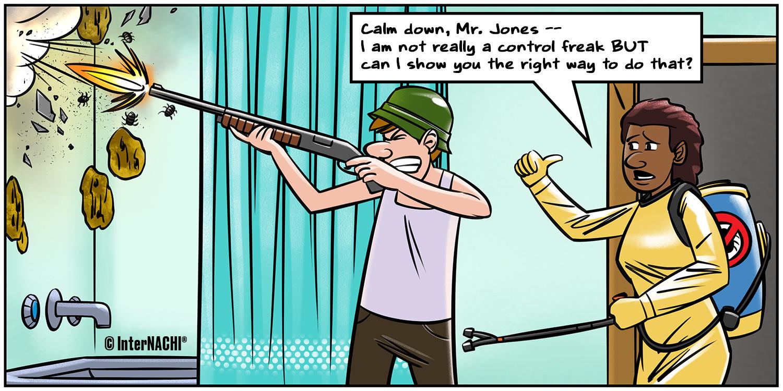 Pest Mitigation Problem Cartoon