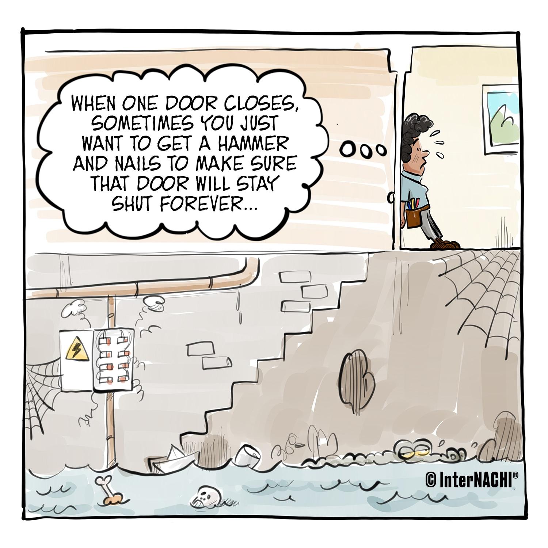 The Scary Basement Cartoon