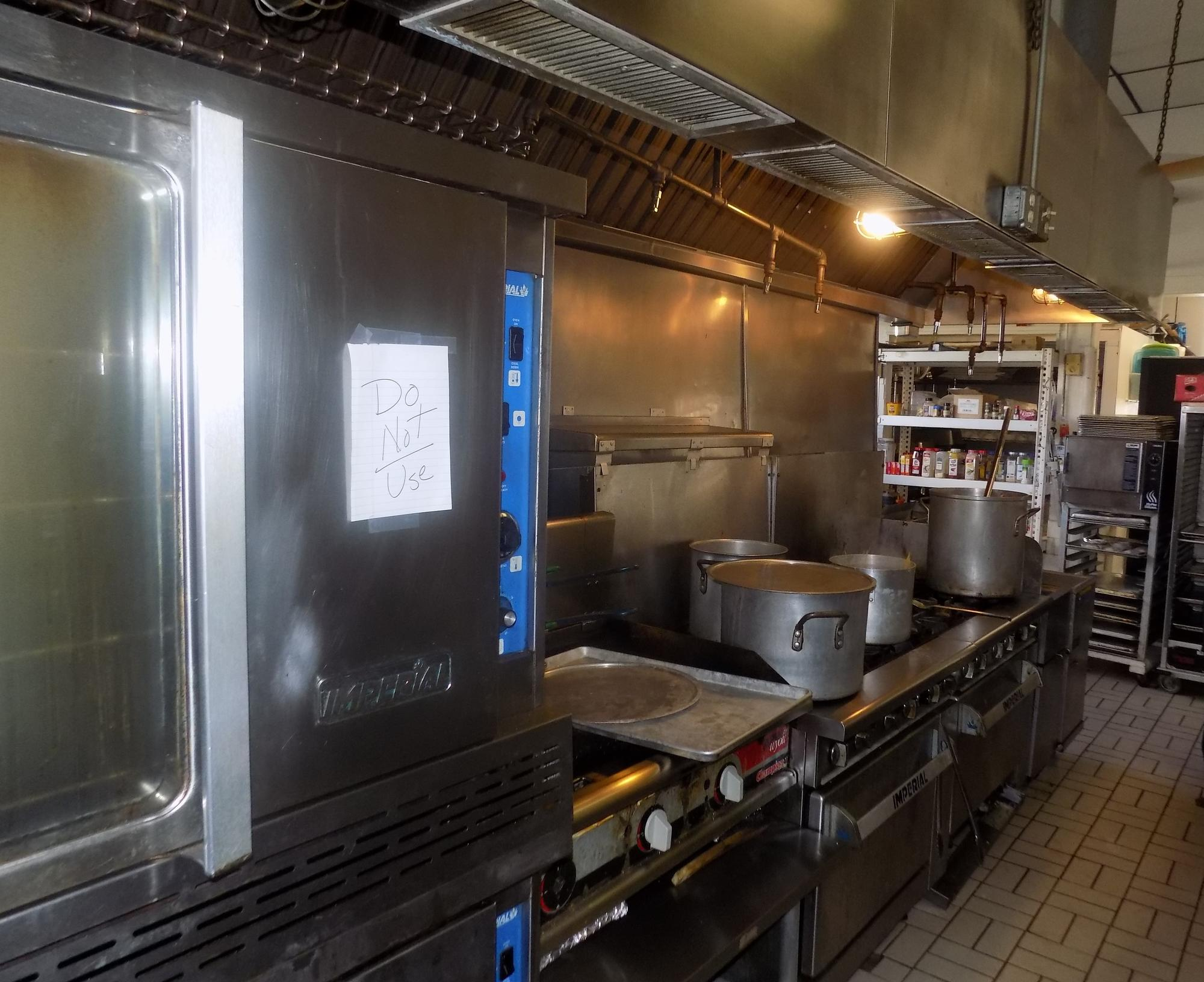 Commercial kitchen inspection.