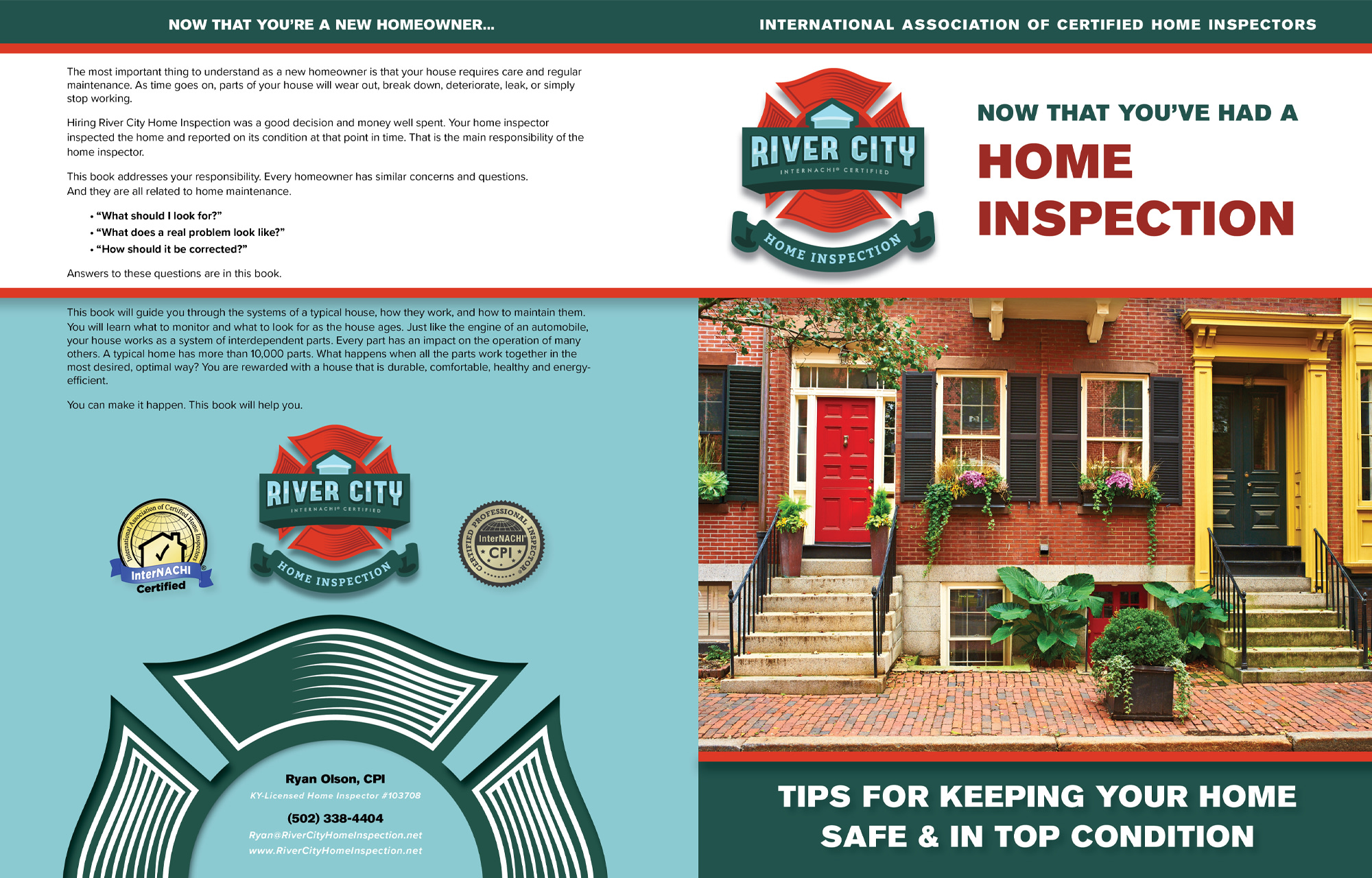 Custom book for Big River City Home Inspections