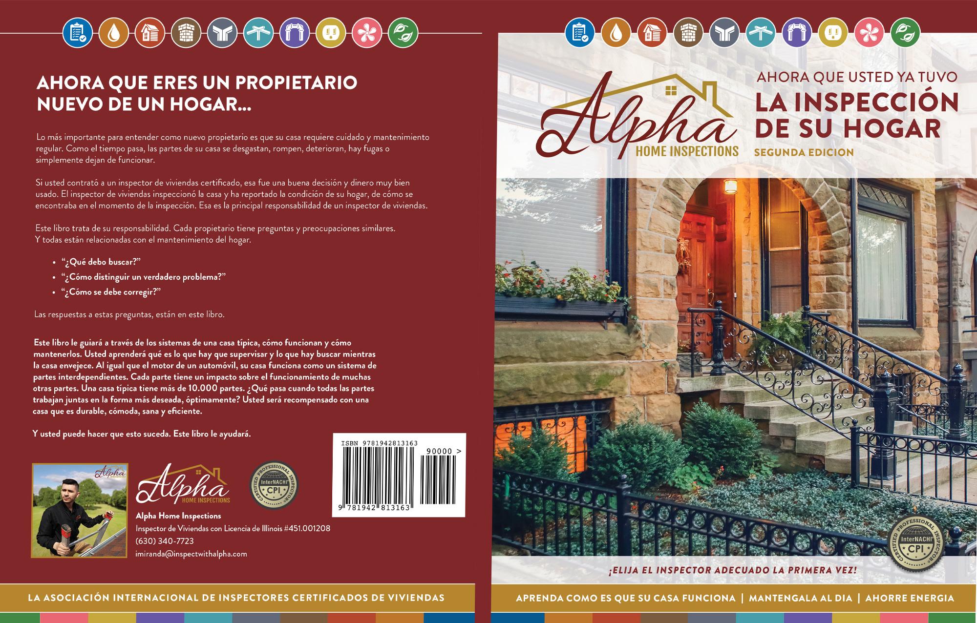 Custom Home Maintenance Book in Spanish