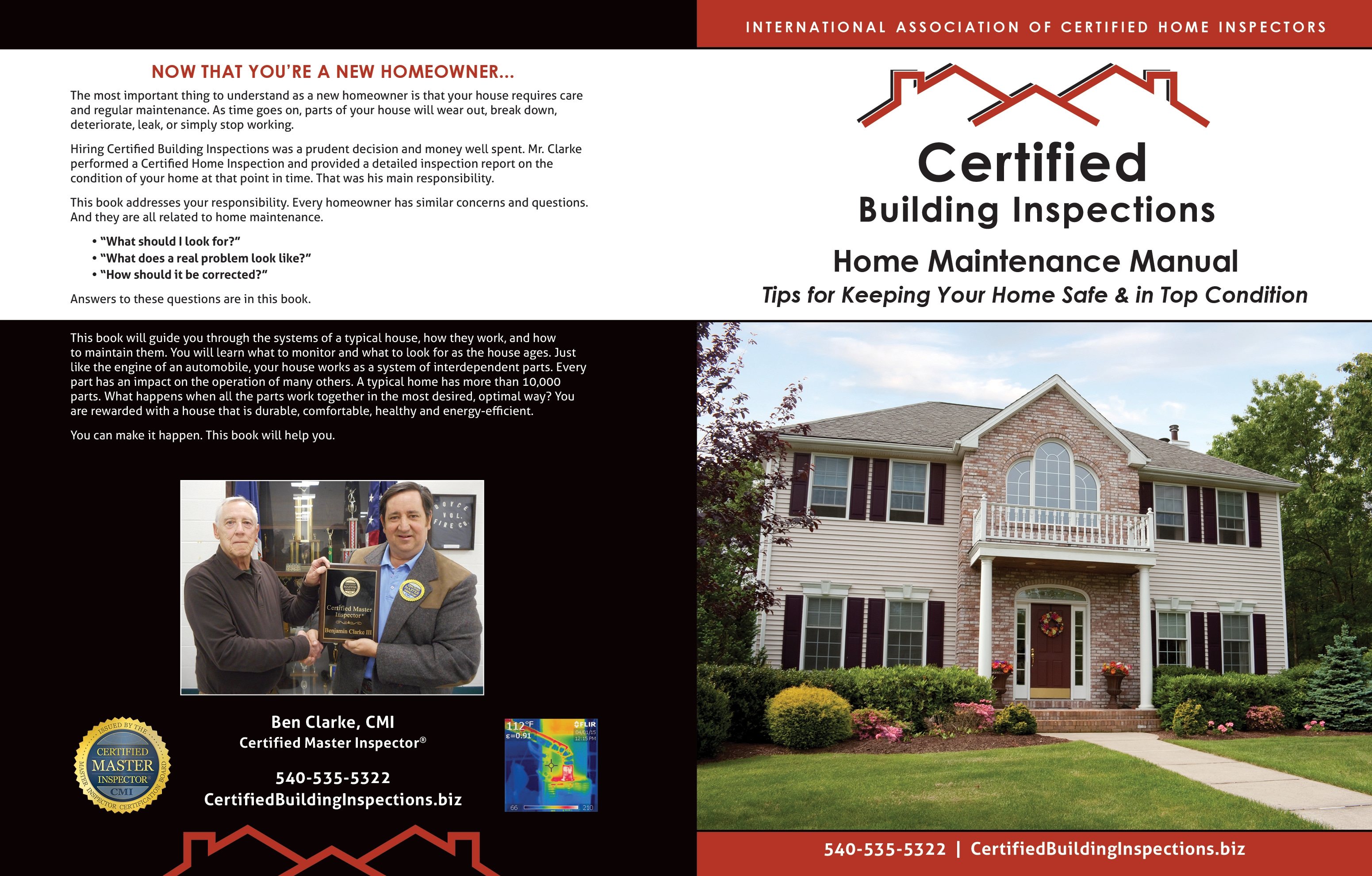 custom home maintenance book for certified building inspections - inspection gallery