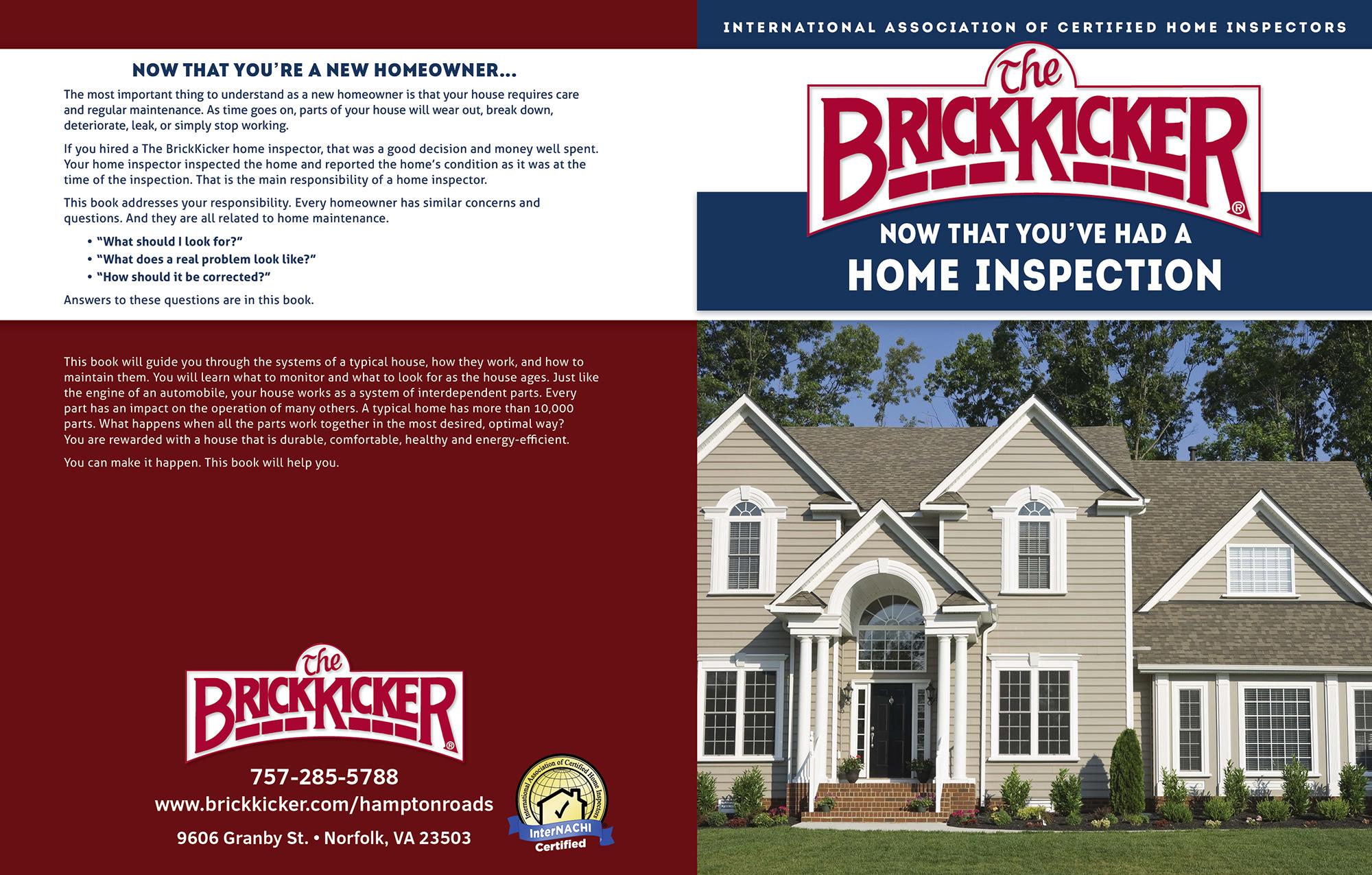 custom home maintenance book for brickkicker - inspection gallery