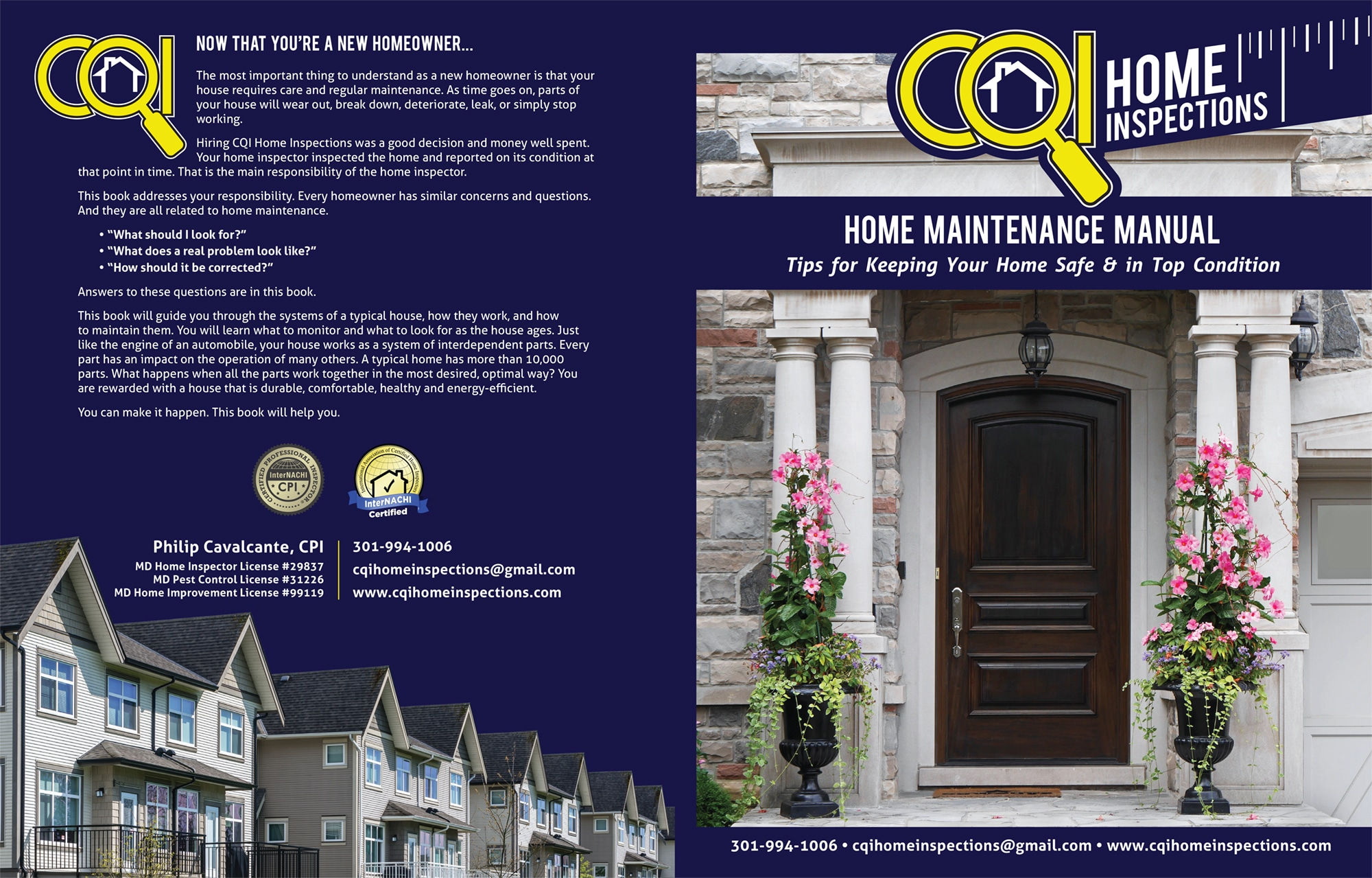 Custom Home Maintenance Books CQI Home Inspections