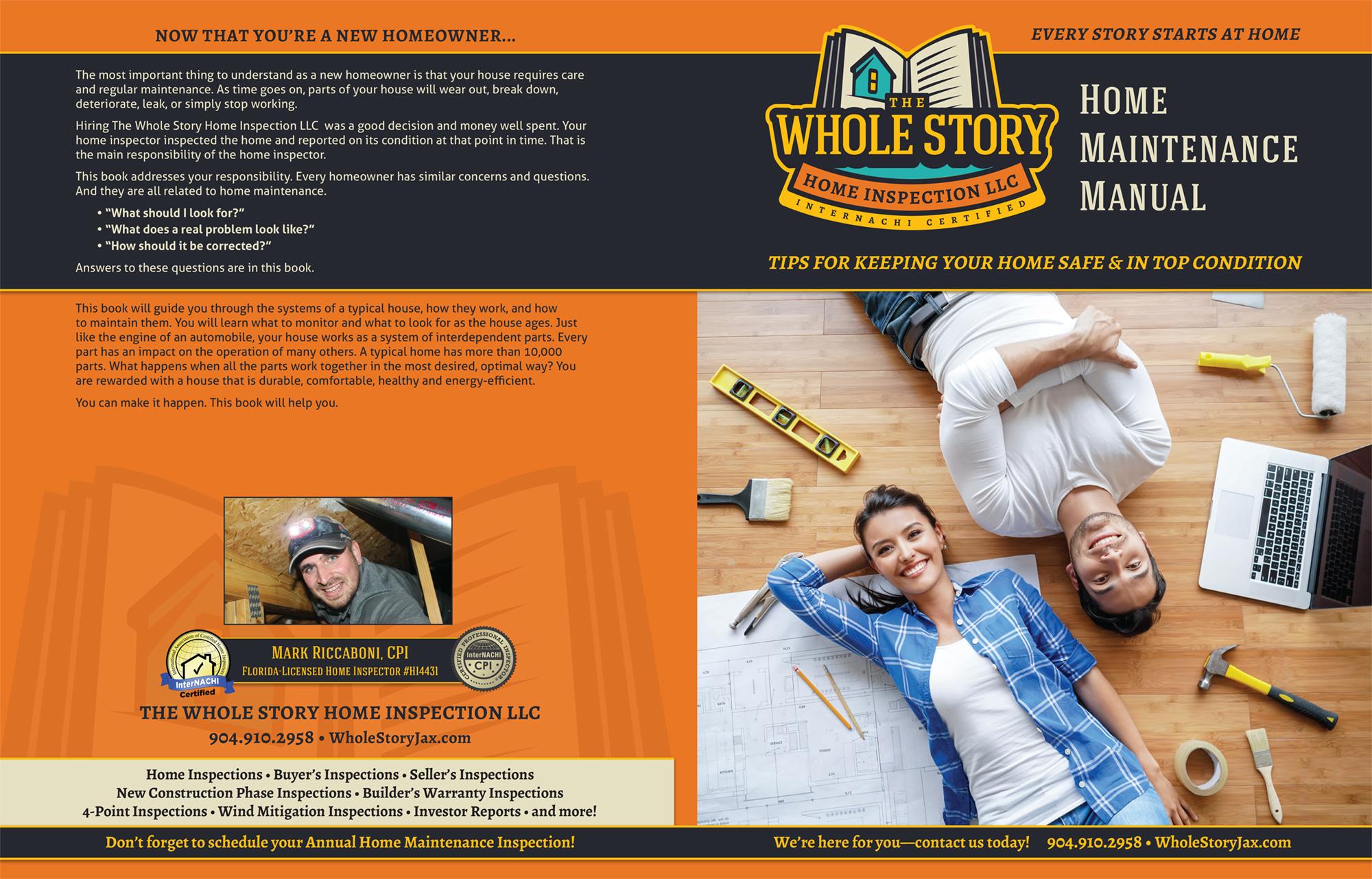 Custom Home Maintenance Books The Whole Story Home Inspection