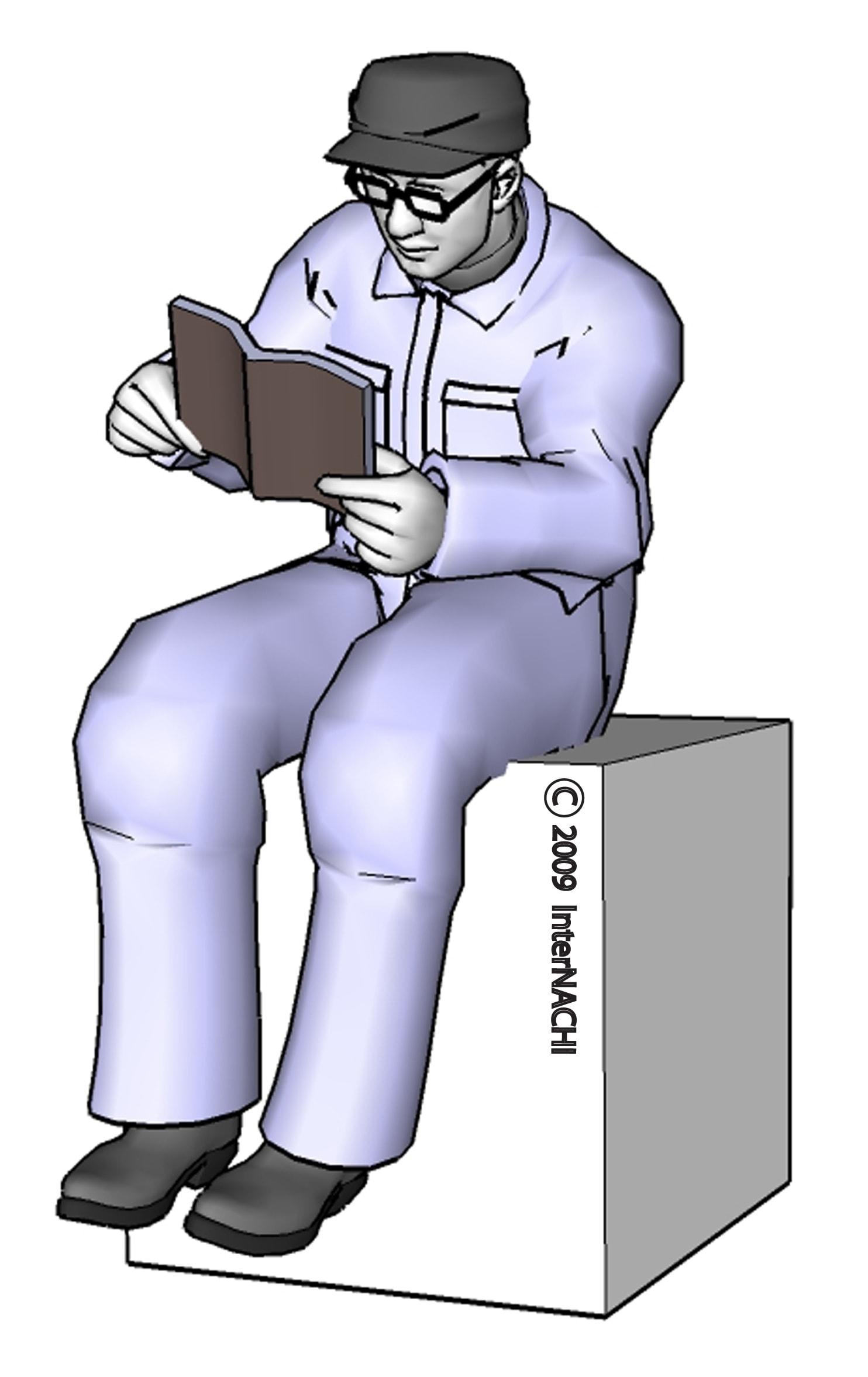 Inspector reading.