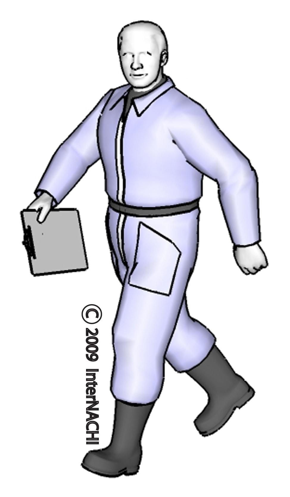 Inspector walking.