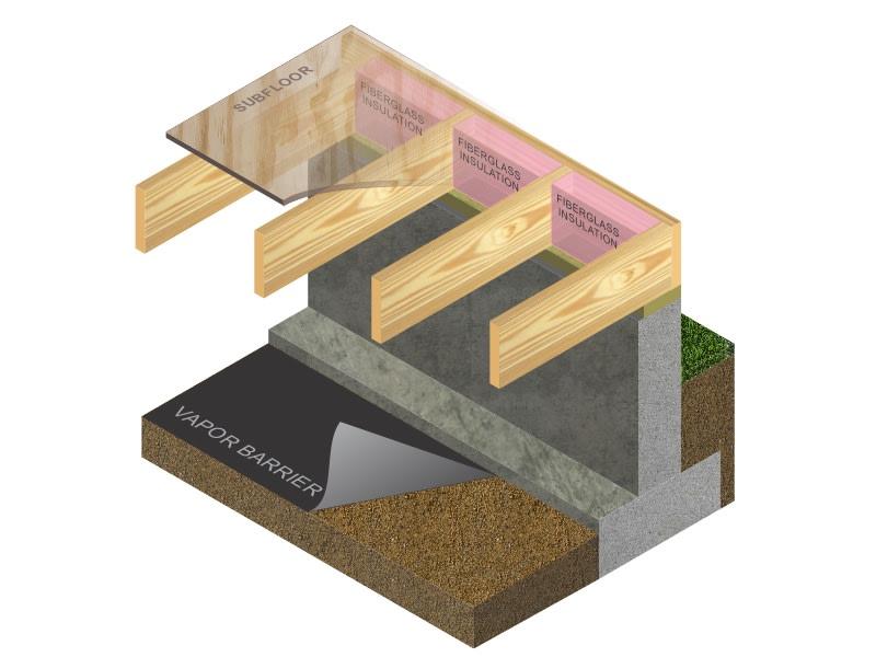 Rim joist insulation.