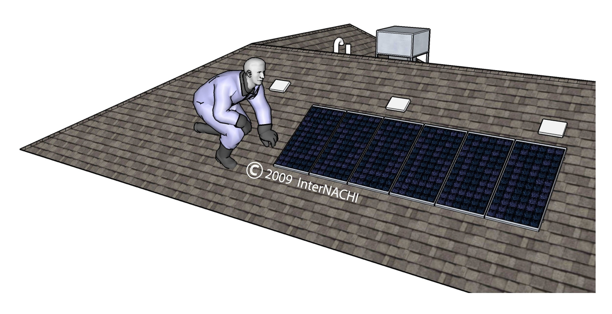 Solar panel inspection.