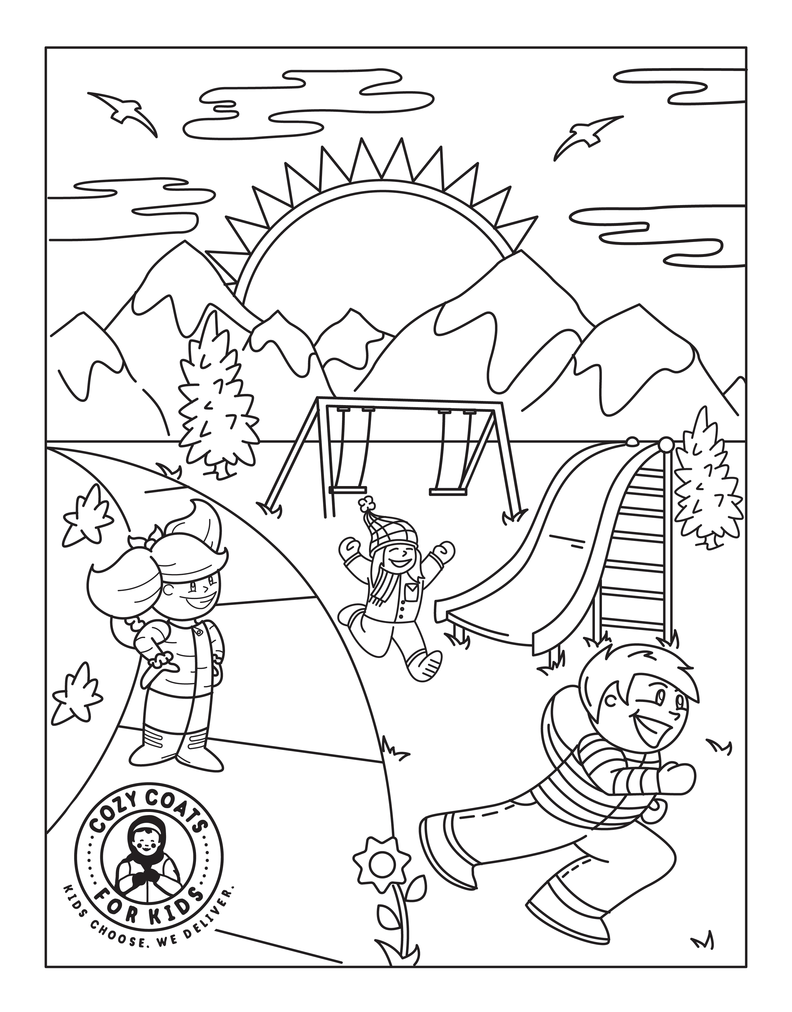 - Cozy Coats For Kids® Children's Coloring Sheet - Inspection