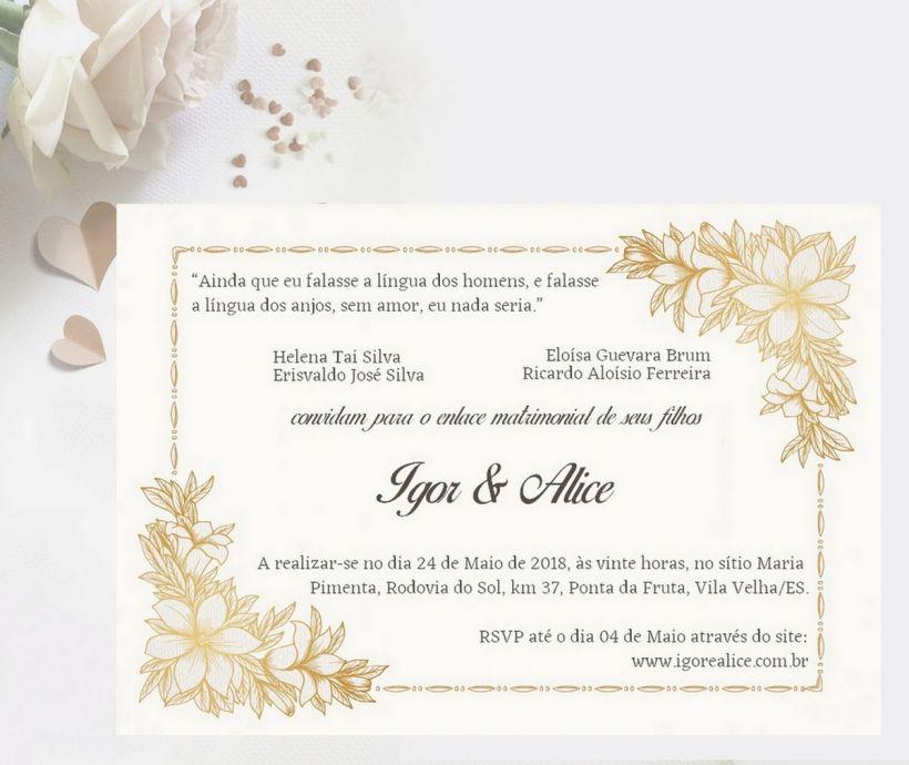 Frases para Convites de casamento.