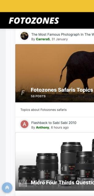 Screenshot of FotoZones