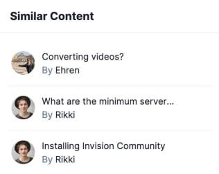 Screenshot of Similar Content