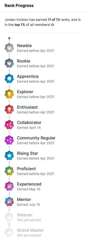 Screenshot of Rank Progress
