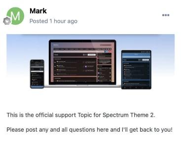 Screenshot of topic