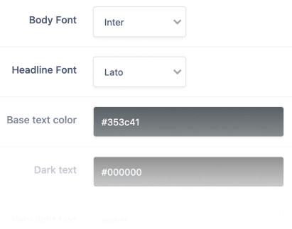 Screenshot of Font Picker