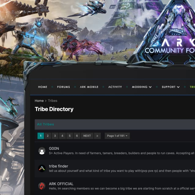 Screenshot of Ark