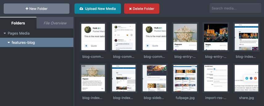 Screenshot of Media Manager