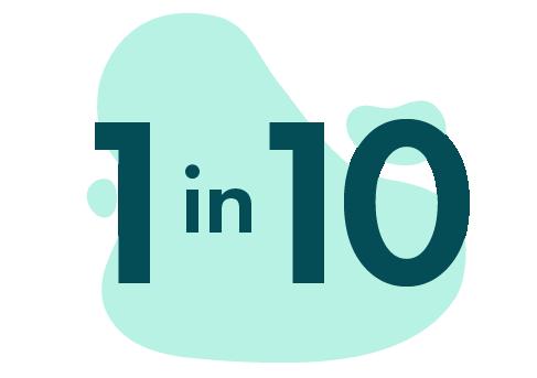 1 in 10