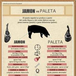 Jamón vs Paleta ¿Diferencias entre estos dos chacinados?