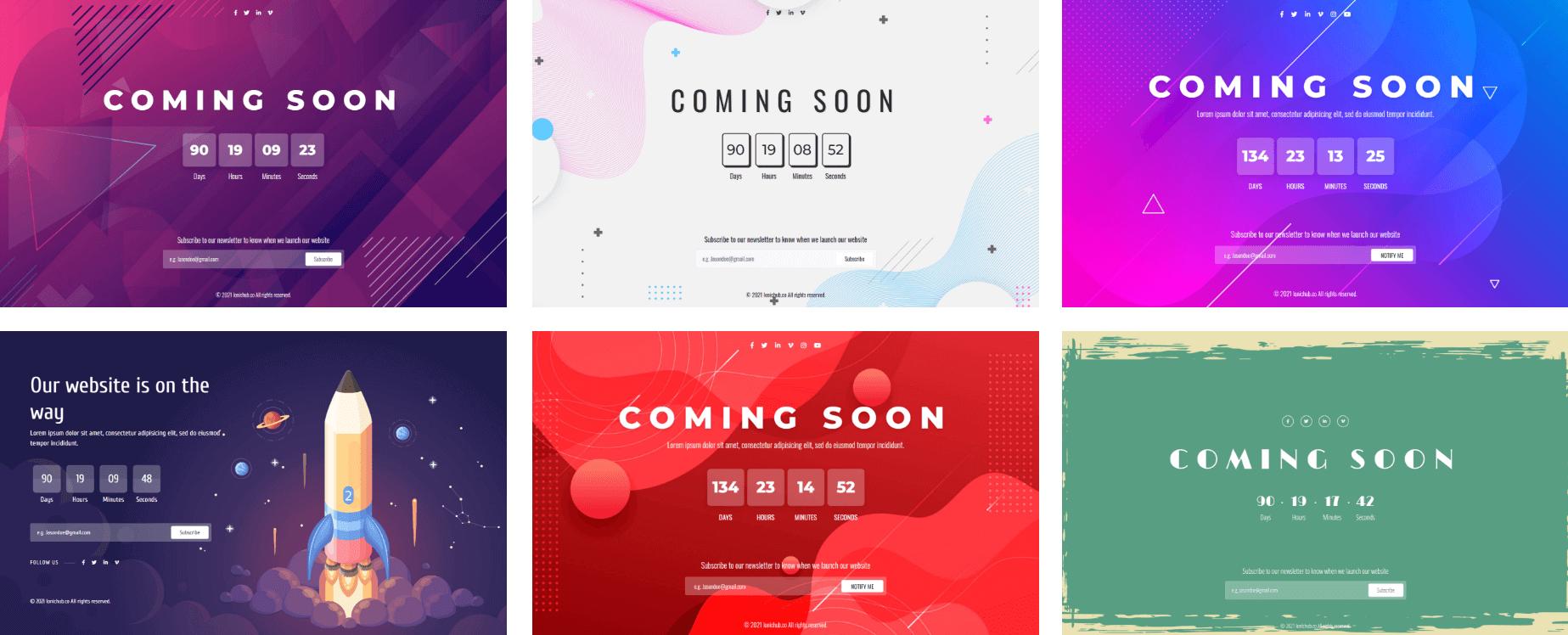 Compteur ionique - Laravel Coming Soon Page avec panneau d'administration - 4