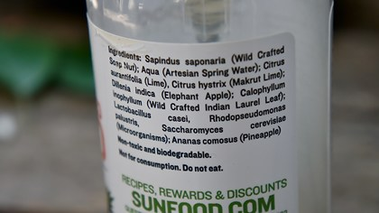 Natural Plant-Based Shampoo Sunfood - ingrediente