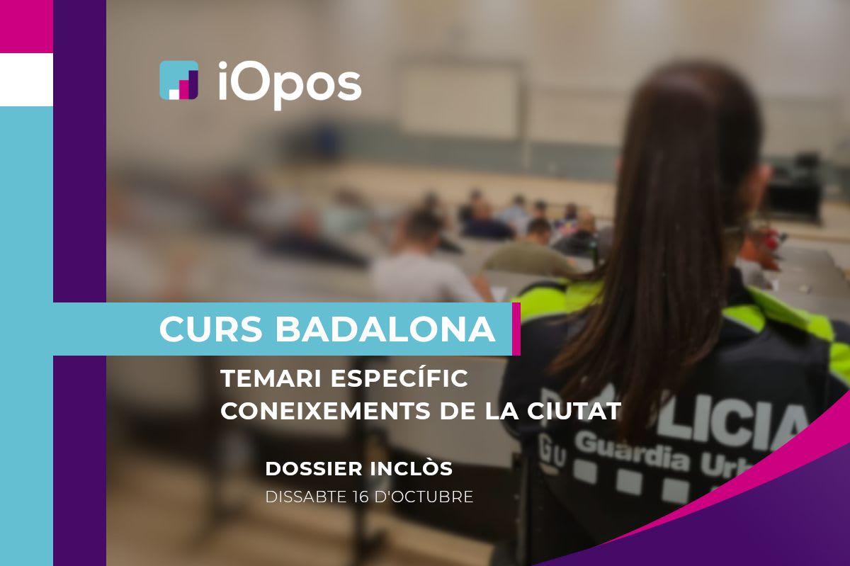 Curs Presencial Guàrdia Urbana de Badalona (En breu nova data)