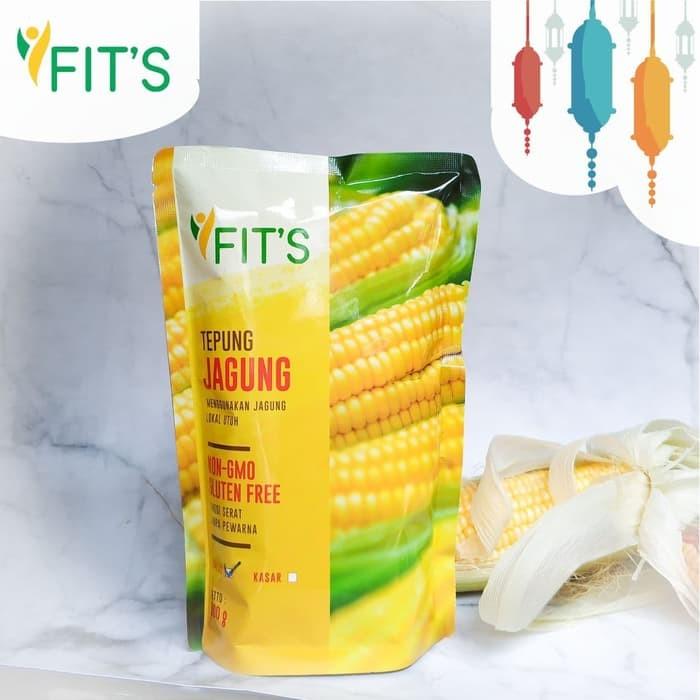 Tepung Jagung (Polenta) NON GMO Fits Mandiri 1 Kg