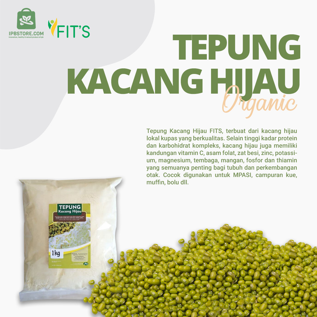 Tepung kacang hijau Fits Mandiri Alami 1kg murah