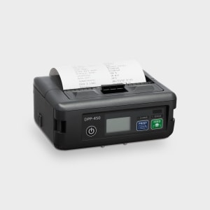 DPP-450 Mobile printer with label printing and adjustable paper settings