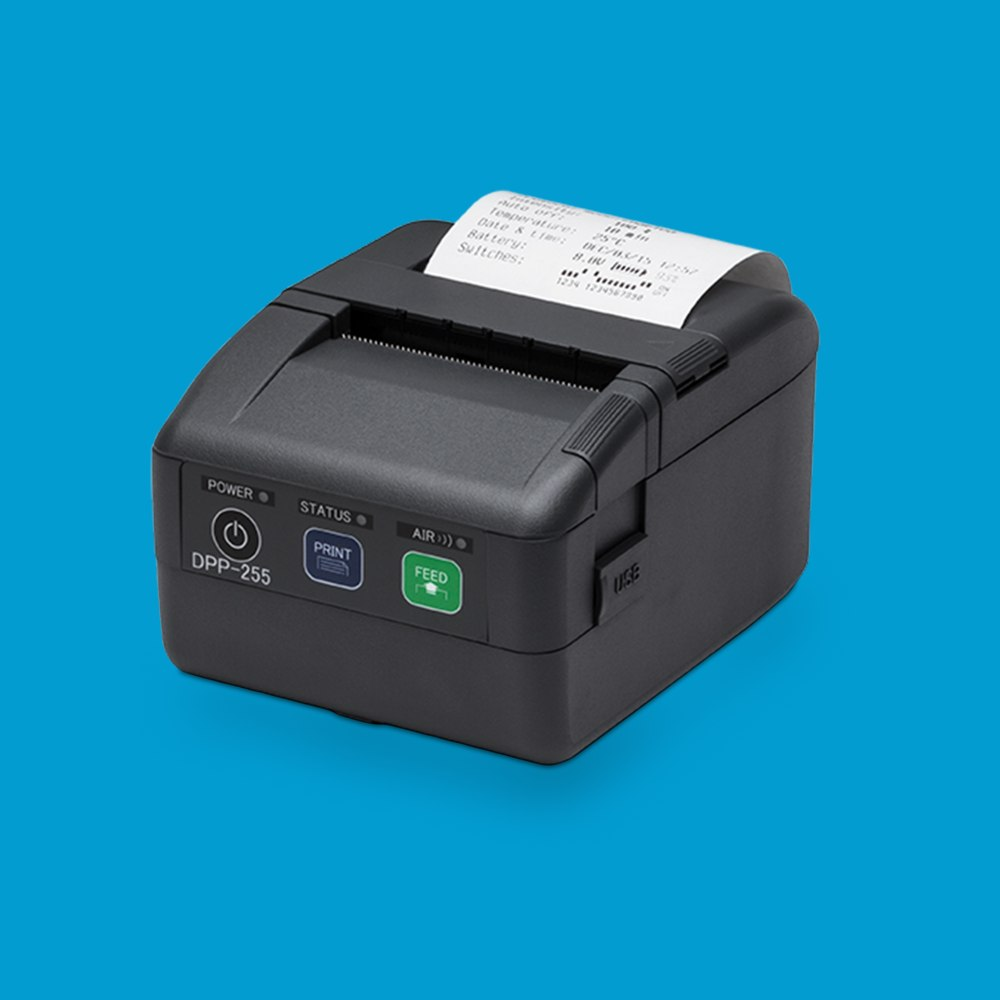 DPP-255 Mobile printer, with bluetooth and label printing