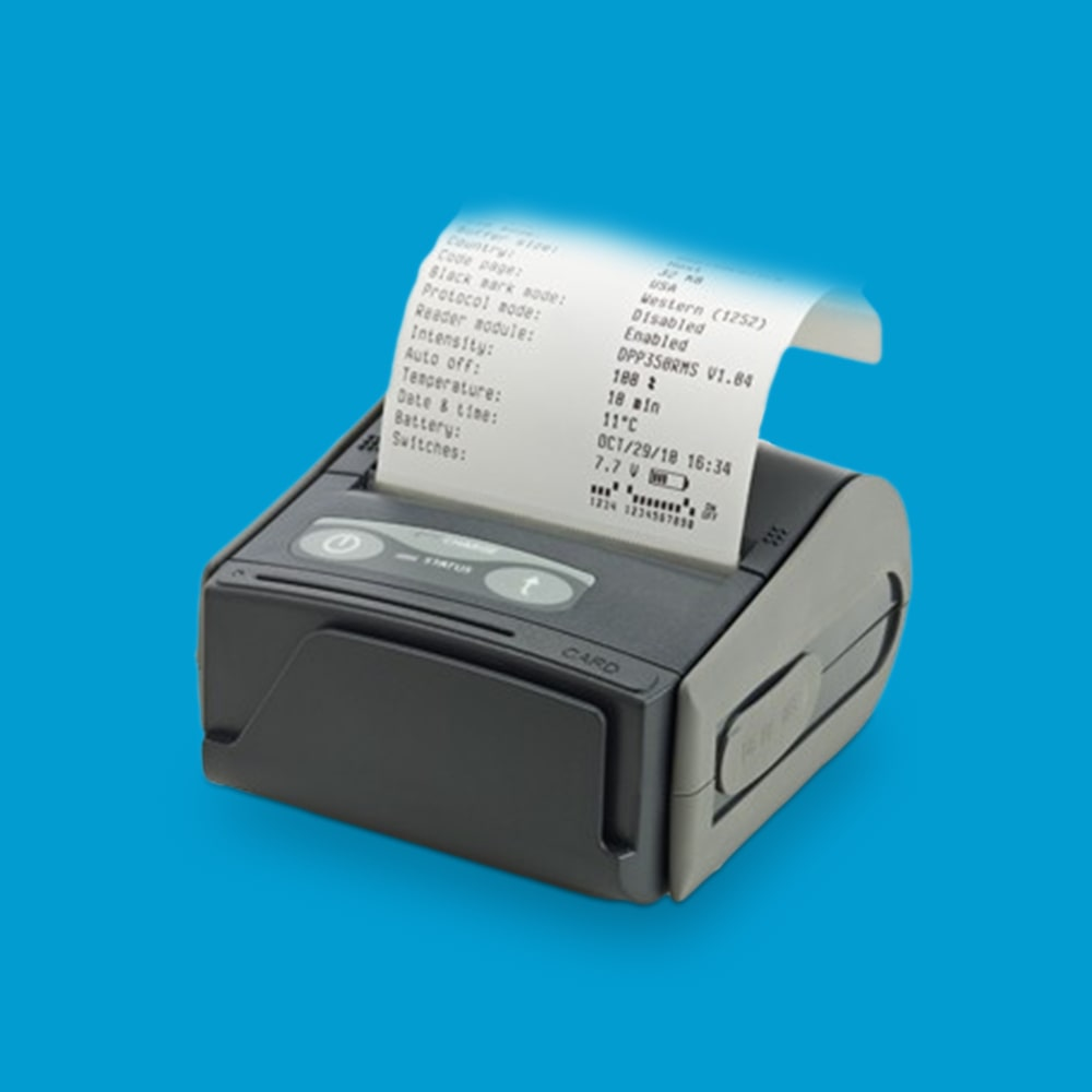 DPP-350 Mobile printer with bluetooth and magnetic strip reader (MSR)