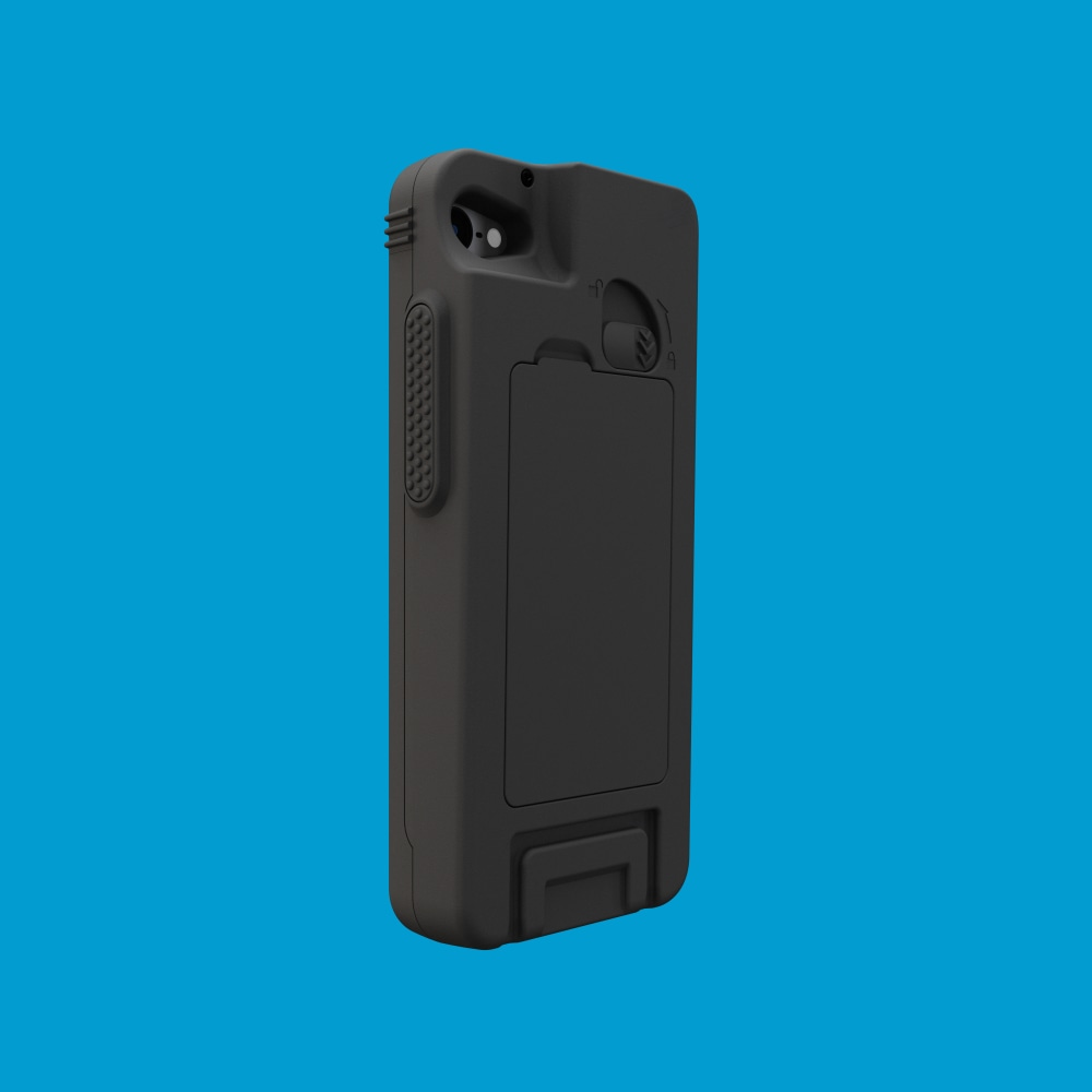 Infinite Peripherals Linea Pro Rugged for iPod touch back left